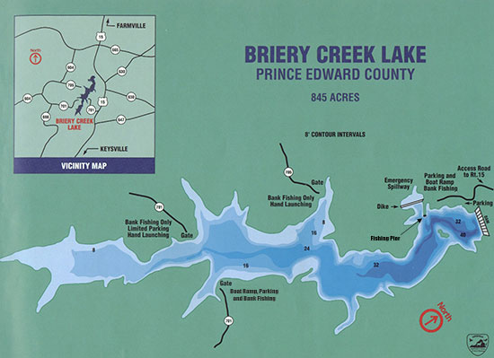 Virginia outdoors briery creek lake for Sandy river fishing report
